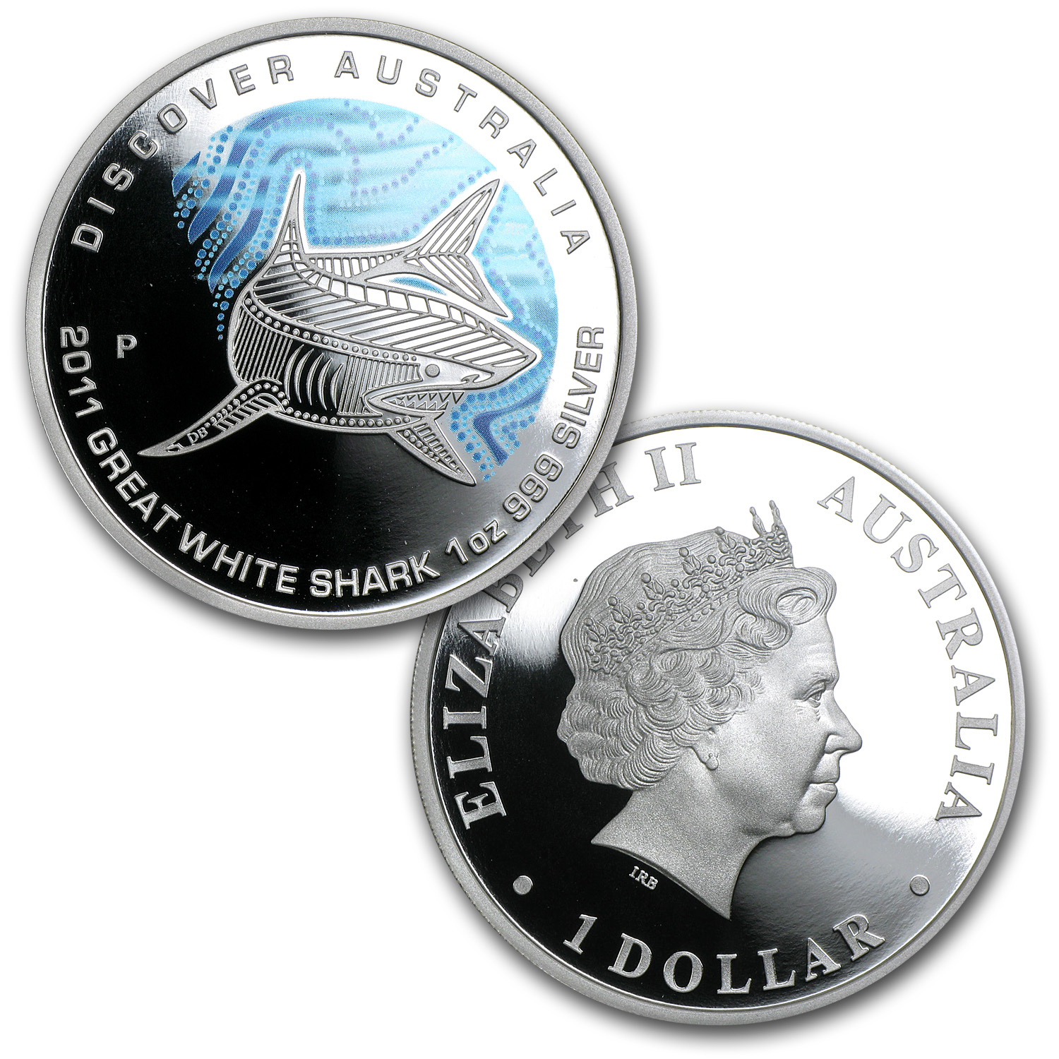 2011 1 oz Proof Silver Discover Australia Dreaming 5-Coin Set